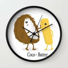Coco-Butter Wall Clock