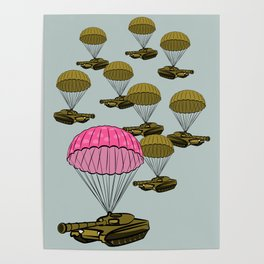 Tank Parachute Poster