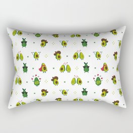 Avocado Pattern - holy guacamole collection Rectangular Pillow
