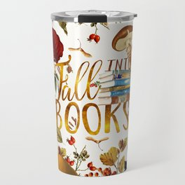 Fall Into Books Travel Mug
