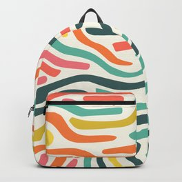 Ribbons colorful pattern Backpack