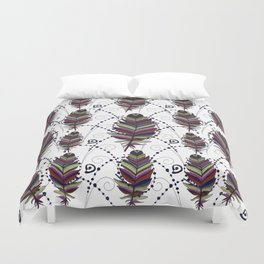 Dance of Feathers Duvet Cover