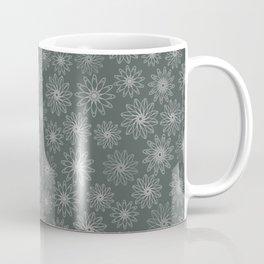 Geometrical floral design in metal green tints Coffee Mug