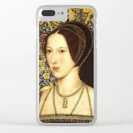 Queen Anne Boleyn Clear iPhone Case