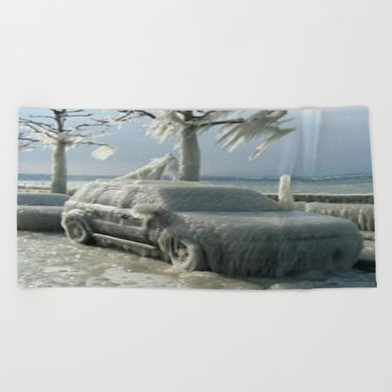 ıce storm Beach Towel