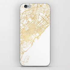 BARCELONA SPAIN CITY STREET MAP ART iPhone Skin