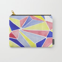Watercolor colorful beach triangles. Watercolor geometry 3D effect. Carry-All Pouch