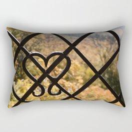 Rusty Heart Rectangular Pillow
