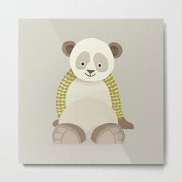 Whimsical Giant Panda Metal Print