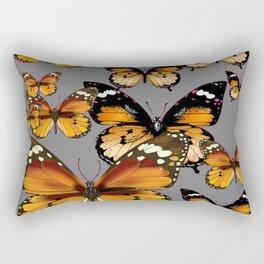 DECORATIVE BUTTERSCOTCH & TOFFEE BROWN BUTTERFLIES ART Rectangular Pillow
