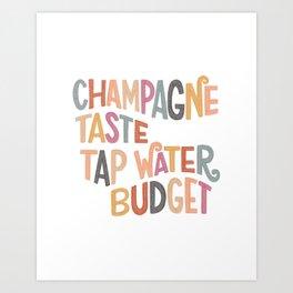 Champagne Taste Art Print