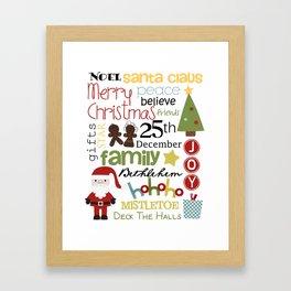 Christmas Subway Art Framed Art Print