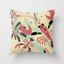 Lobster Rhumba Throw Pillow