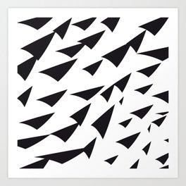 black soft arrows Art Print