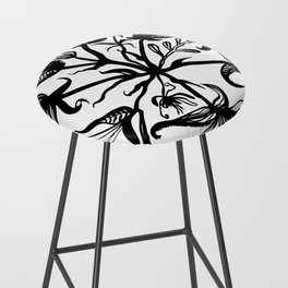Black bouquet Bar Stool