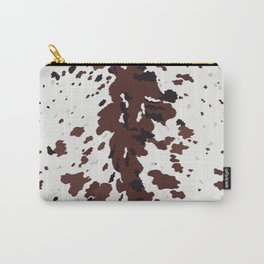 Texas Longhorn Cow Hide Print Carry-All Pouch