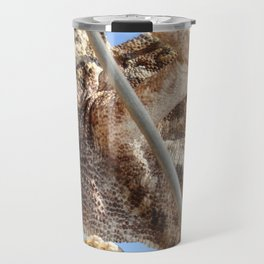 Close Up Of A Climbing Chameleon Travel Mug