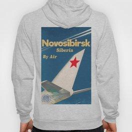 Novosibirsk Siberian vintage soviet union poster Hoody