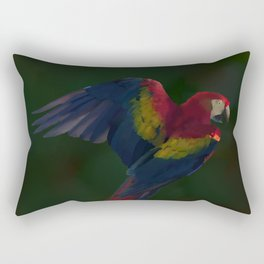 Light and Shadow Scarlet Macaw Rectangular Pillow