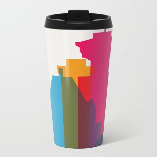 Shapes of Vancouver. Accurate to scale. Metal Travel Mug