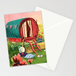 Gypsy Caravan at Sunset Stationery Cards
