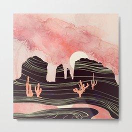 Rose Desert Metal Print