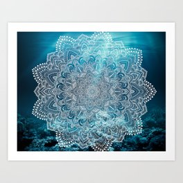 Sea Lights Mandala Art Print