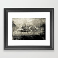 Live and Explore Mountains Framed Art Print