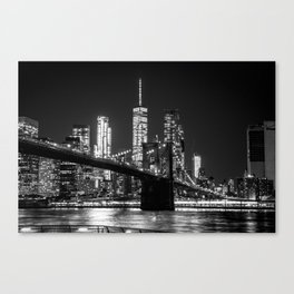 Brooklyn Bridge & WTC Canvas Print