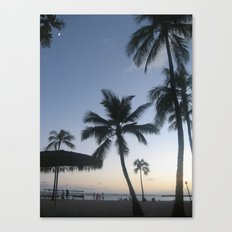 Blue Hawaiian Sunset Canvas Print