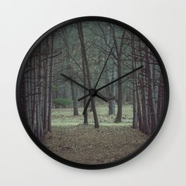 Forest alley Wall Clock