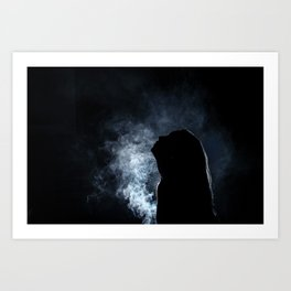 Self Smoke Art Print