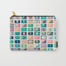 Dollar Pattern 60s Carry-All Pouch