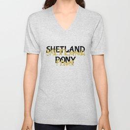 Shetland Pony Unisex V-Neck