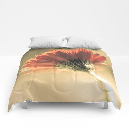 Reddish Gerbera Comforters