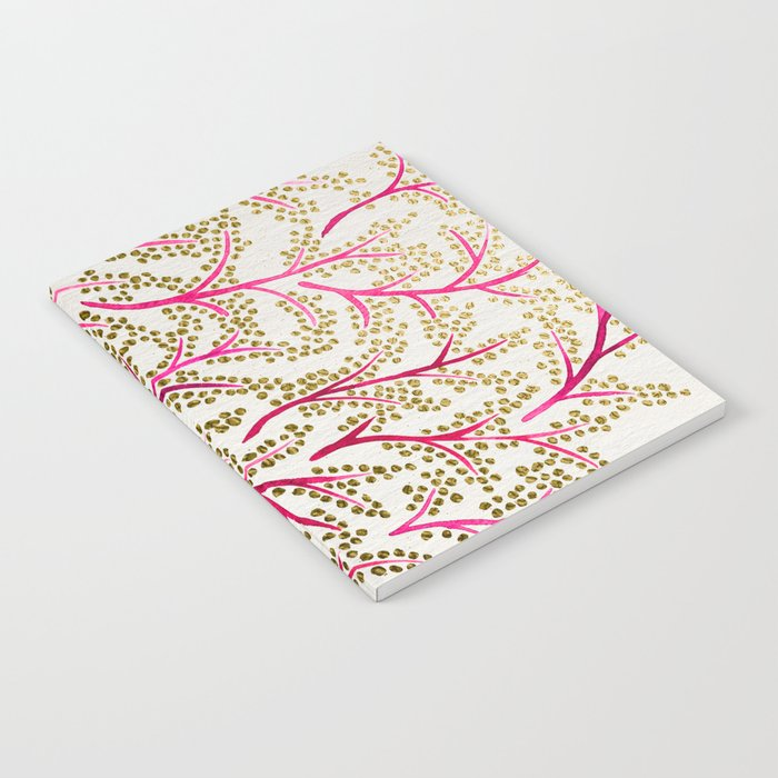 Pink & Gold Branches Notebook