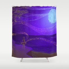 Merge with the Universe Shower Curtain