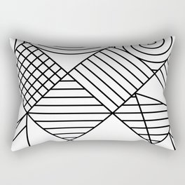 Whackadoodle White and black Rectangular Pillow