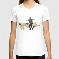 pugs T-shirts featuring Jurassic Pugs by The Pug Shop