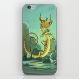 Goblins Drool, Fairies Rule! - Salamander Snoop iPhone Skin