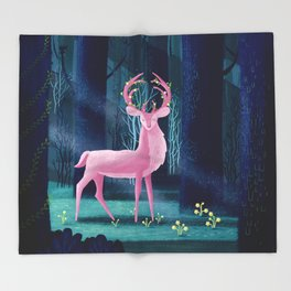 King Of The Enchanted Forest Throw Blanket