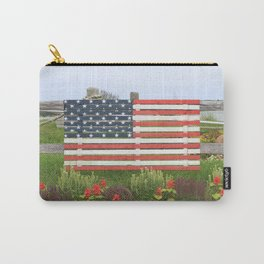 American Flag Rustic Carry-All Pouch