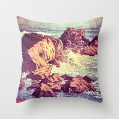 Stopping by the Shore at Uke Throw Pillow