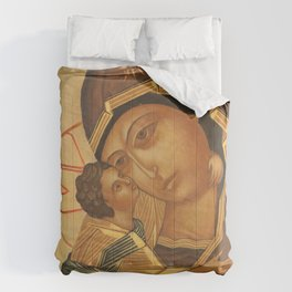 Orthodox Icon of Virgin Mary and Baby Jesus Comforters