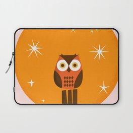 Owl on a Fence Laptop Sleeve