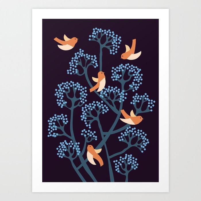 Birds Are singing Art Print