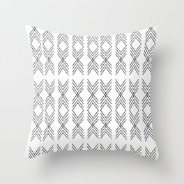 Minimal Tribal Black&White Throw Pillow