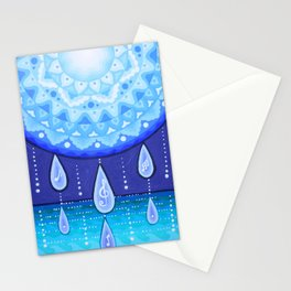 Blue Moonlight Sonata, Mandala artwork by Soozie Wray Stationery Cards