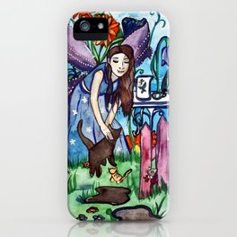Blue Fairy´s Garden iPhone Case