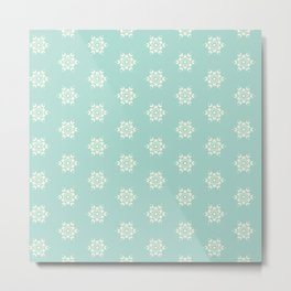 Sea Salt Seamless Design 1 Metal Print